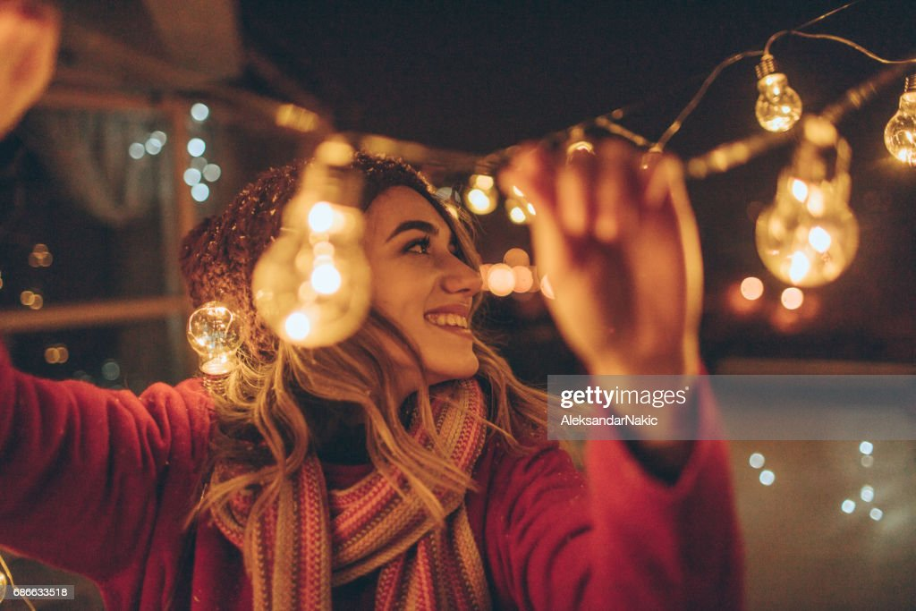 New Year's party preparations : Stock Photo