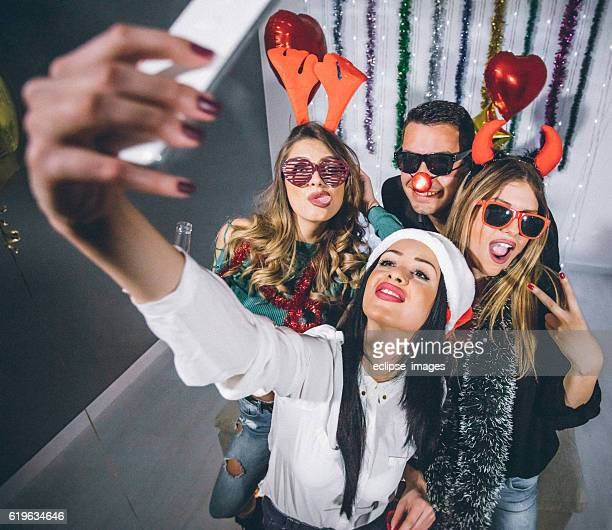 New Year's party selfie