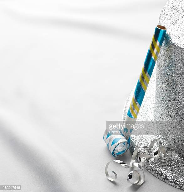 new years - party blower stock pictures, royalty-free photos & images