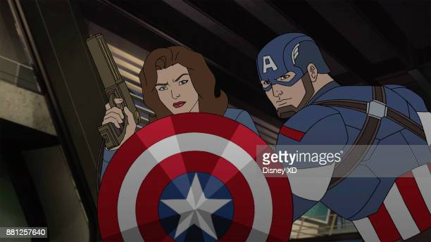 WARS 'New Years Resolution' Past and present collide as Howard Stark and Peggy Carter team up with Iron Man and Captain America to save the time...
