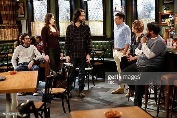 UNDATEABLE A New Year's Resolution Walks Into A Bar Episode 310A Pictured Rick Glassman as Burski Whitney Cummings as Charlotte Chris D'Elia as Danny...