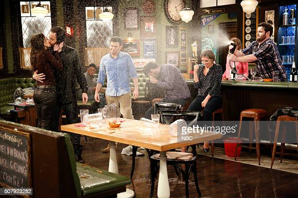 UNDATEABLE A New Year's Resolution Walks Into A Bar Episode 310A Pictured Whiteny Cummings as Charlotte Chris D'Elia as Danny Brent Morin as Justin...
