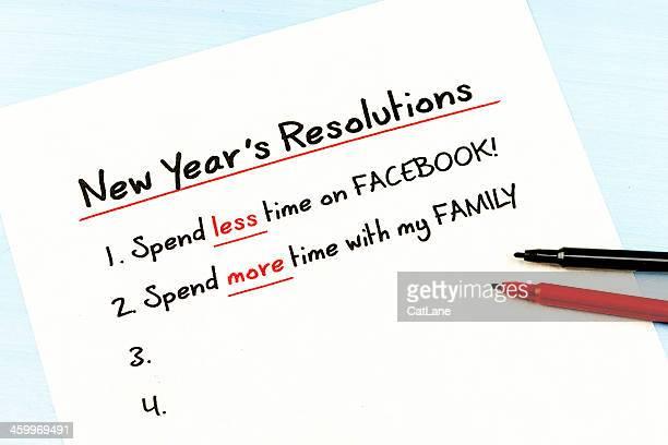 Gute Vorsätze für das neue Jahr: Weniger Zeit auf Facebook