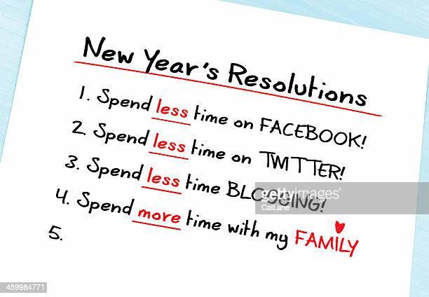Gute Vorsätze für das neue Jahr: Weniger Zeit in sozialen Medien