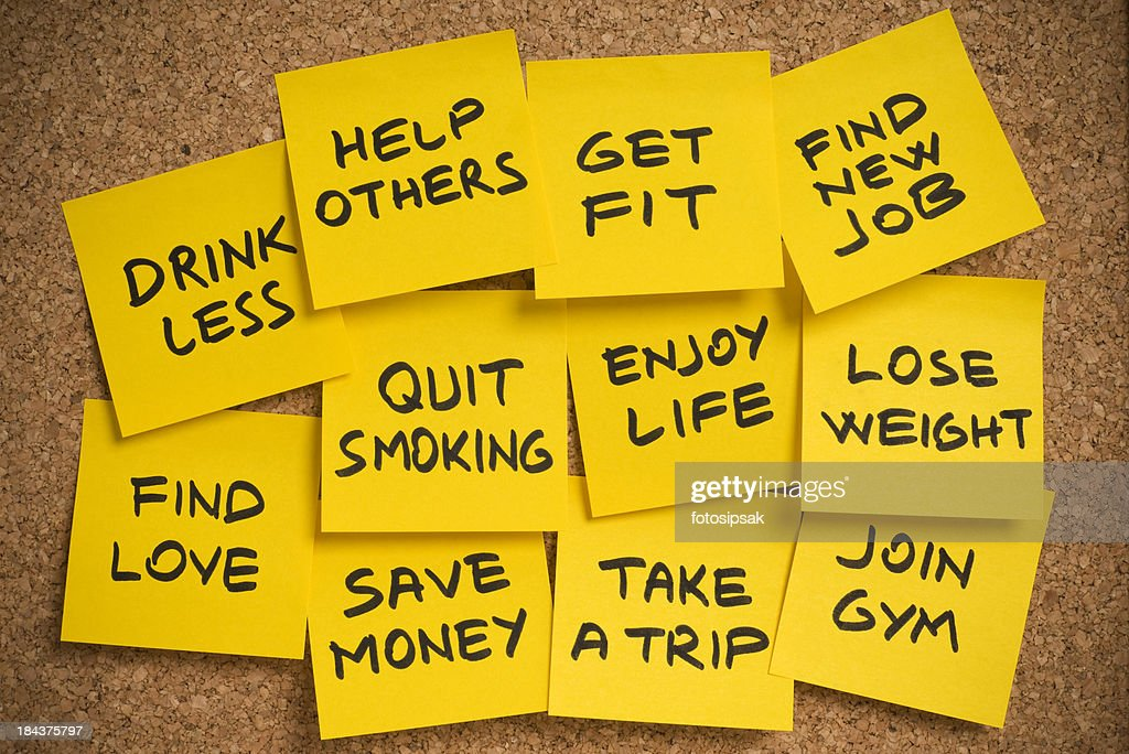 new year's resolutions : Stock Photo