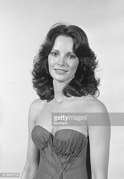 Actress Jaclyn Smith one of the glamorous ladies of the TV series Charlie's Angels is shown at a luncheon at the Pierre Hotel where she was presented...