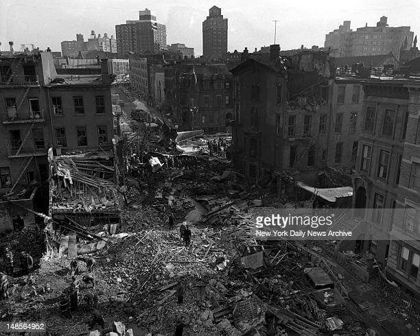 New York air disaster Park Slope Crash between two airlines United Airlines Flight 826 and Trans World Airlines Flight 266 over New York City in...