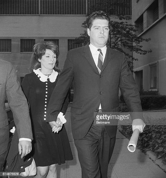 Alice Crimmins arrives at court with her husband Edmund hand in hand 5/23/1968