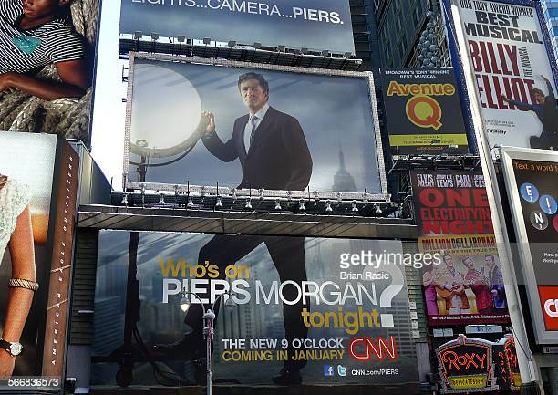 New York America 07 Feb 2011 Billboard For Pears Morgan Tv Program At Times Square New York America