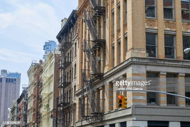 new york apartment buildings - brooklyn new york stock pictures, royalty-free photos & images