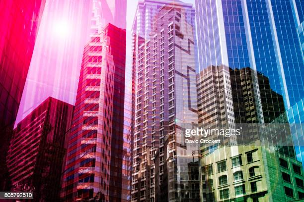 new york architectural abstract - mergers and acquisitions stock pictures, royalty-free photos & images