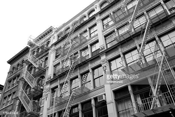 New York architecture in black and white photography