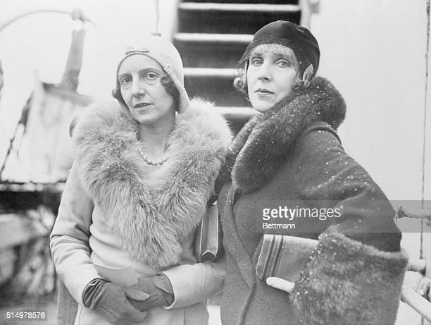 New York Arriving in New York for the holiday season Lady Victor Paget and Lady Diana Maners leaders of the smart set of London Society shown as they...