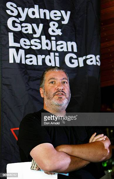 New York artist Spencer Tunick speaks to the media during a press conference at the Toko Restaurant Bar on February 23 2010 in Sydney Australia...
