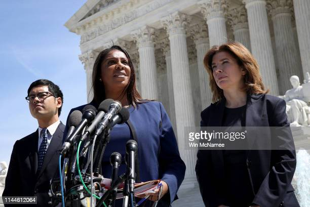 New York Attorney General Letitia James New York Census Director Julie Menin and ACLU's Director of the Voting Project Dale Ho answer questions...