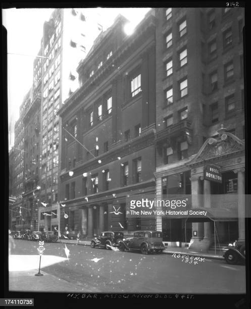 New York Bar Association West 44th Street Hotel Royalton also visible New York New York 1934