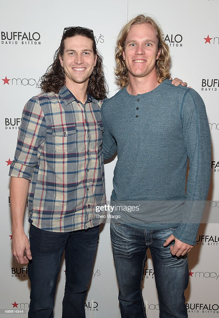 Buffalo David Bitton Celebrates New Men's Shop With New York Baseball Players Noah Syndergaard And Jacob deGrom At Macy's Herald Square