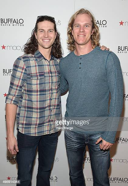 New York baseball players Jacob deGrom and Noah Syndergaard attend as Buffalo David Bitton celebrates New Men's Shop with New York baseball players...