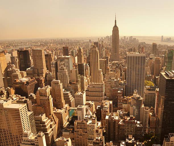 New York Bird's Eye View Of Manhattan Wall Art