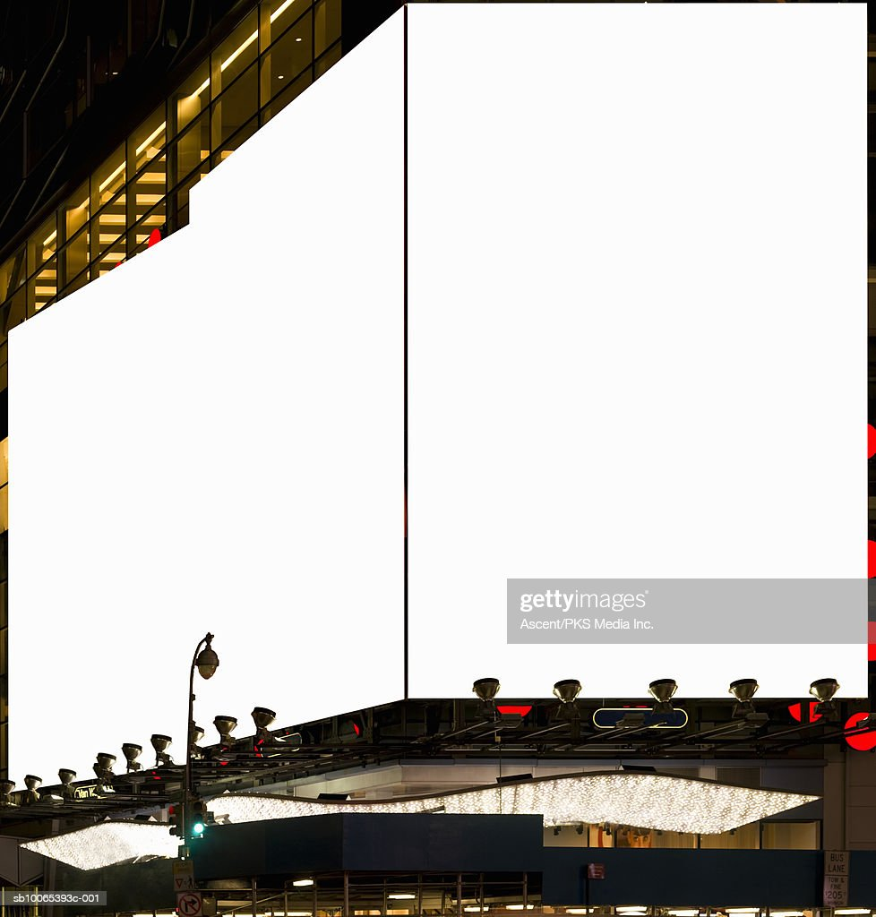USA, New York, blank billboards in Times Square : Foto stock