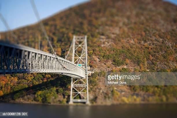 usa, new york, bridge near bear mountain - bear mountain bridge stock pictures, royalty-free photos & images