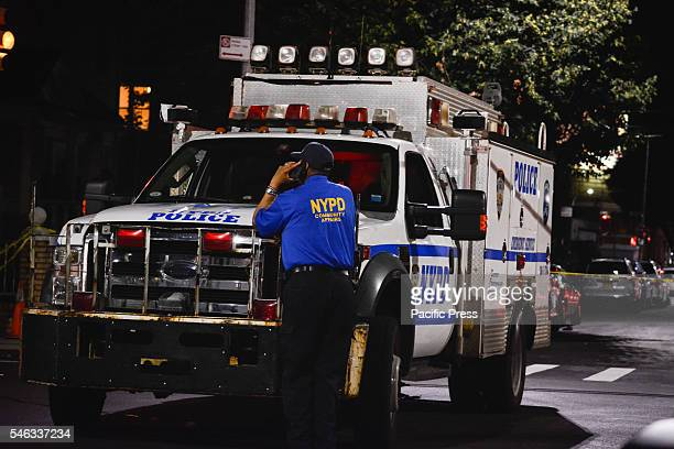New York Brooklyn home Invasion by 2 Suspects one who fled the scene at 2271 78th street and Stillwell Avenue with one Black male person shot by NYPD...
