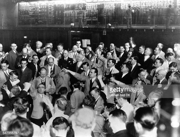 New York Börse Betrieb an der Weizenbörse 1940