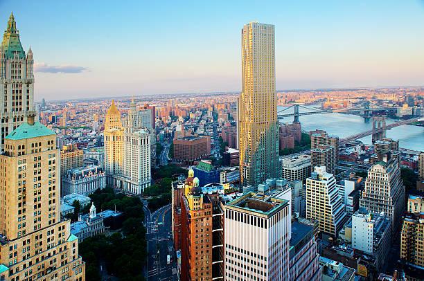 New York Buildings By Sun Wall Art