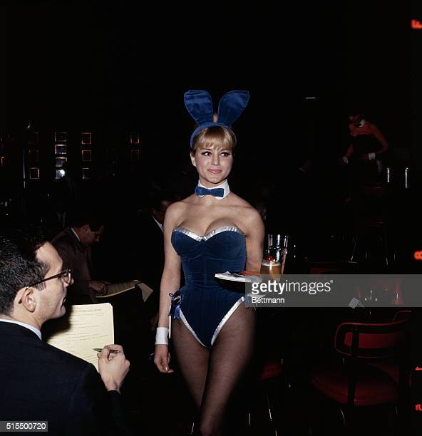 Bunny Marta poses for photographers at the New York Playboy Club February 15th during press conference called by Tony Roma the club's general manager