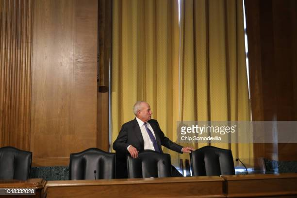 New York businessman Andrew Saul arrives for his confirmation hearing to be commissioner of the Social Security Administration before the Senate...