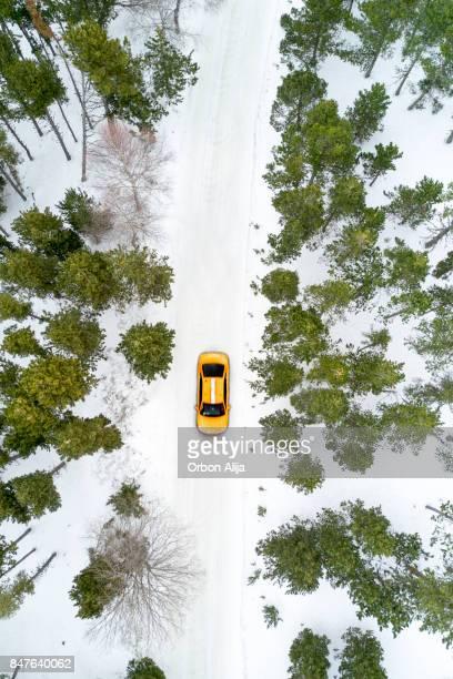 New York Taxi fahren im Schnee