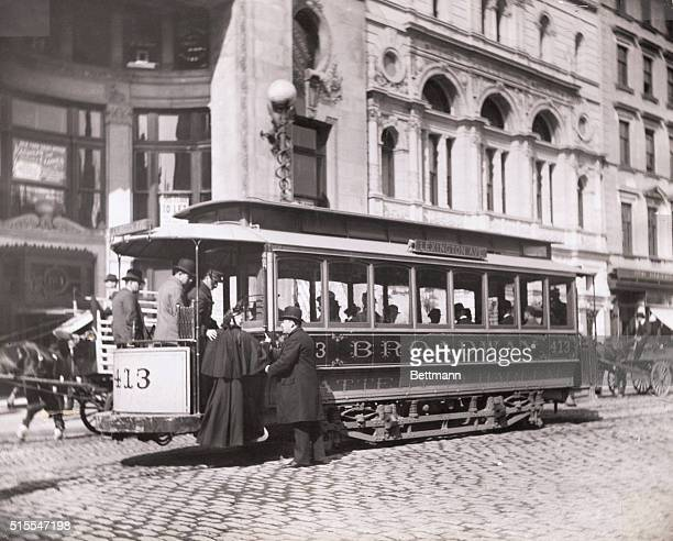 New York cable car in 1896 Broadway