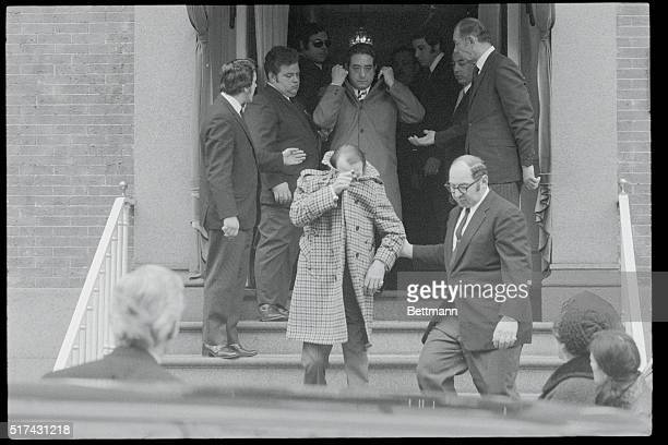 CameraShy Following a somewhat camerashy gent out of the funeral home where the body of Joe Gallo was on view the slain mobster's bodyguard Peter...