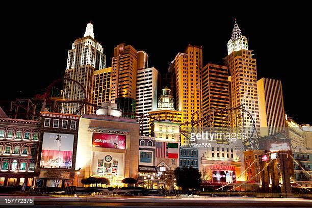 New York casino in Las Vegas at night