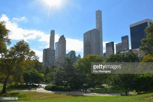 new york. central park - monument stockfoto's en -beelden