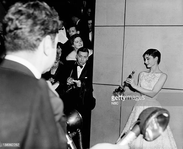 AWARDS New York Ceremony Air Date Pictured Best Actress winner Audrey Hepburn for Roman Holiday during the 26th Annual Academy Awards on March 25...