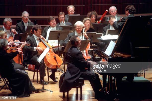 New York Chamber Symphony performing at Alice Tully Hall on Thursday night October 26 2000This imageAndre Watts performing Schubert's 'Fantasie...