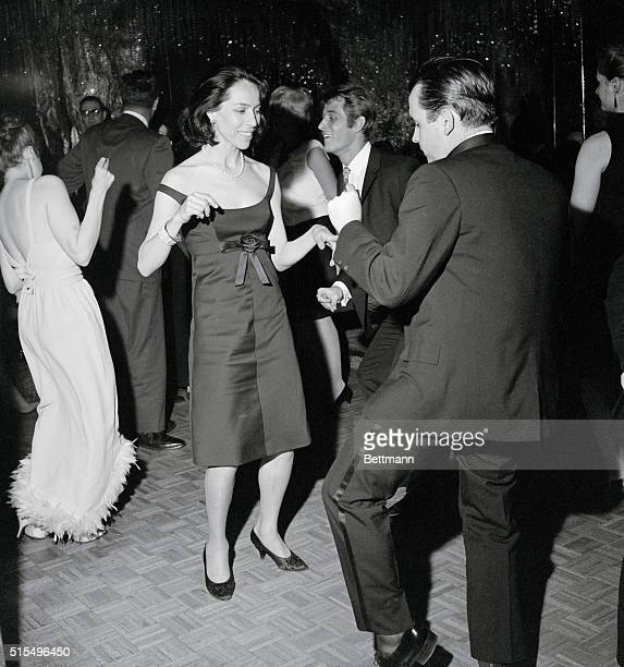 Change Of Pace Maria Tallchief prima ballerina of the New York City Center Ballet company enjoys a Busman's Holiday as she performs an aftertheater...
