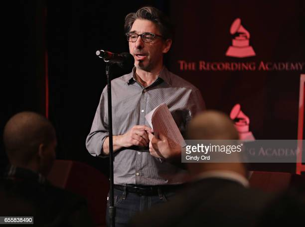 New York Chapter of The Recording Academy Executive Director Nick Cucci speaks during the GRAMMY Pro Songwriters Summit Women Making Music at The...