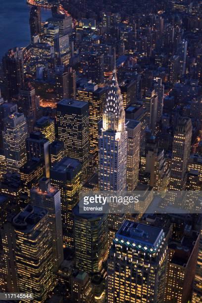 Nueva York-edificio Chrysler Vista aérea