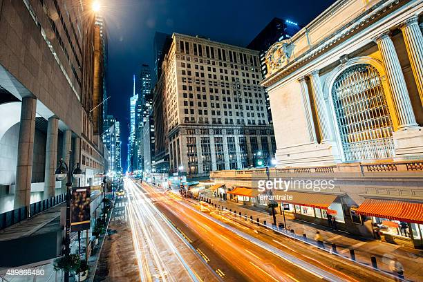 new york city 42nd street and grand central station - bryant park stock pictures, royalty-free photos & images