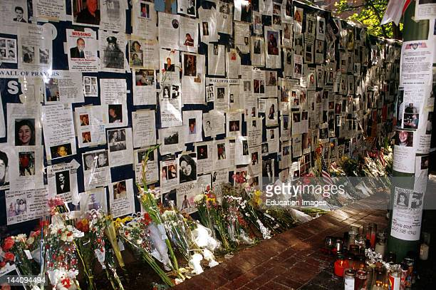 New York City 9/11/2001 Bellevue Hospital Wall Of Sorrow Memorial And Photos Of Victims Of World Trade Center Attack