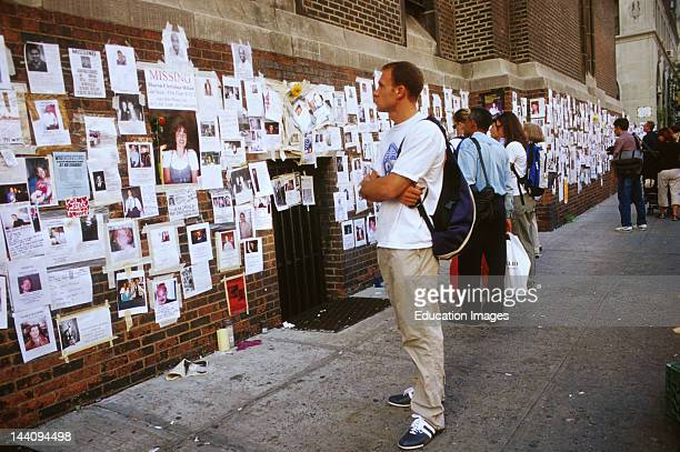 New York City 9/11/2001 Lexington Avenue Missing Persons Following World Trade Center Attack