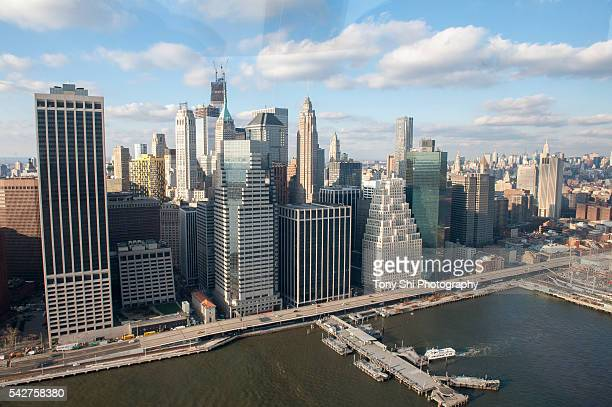 New York City - Aerial - Lower Manhattan - East River