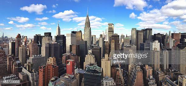 new york city aerial skyline - east stock pictures, royalty-free photos & images