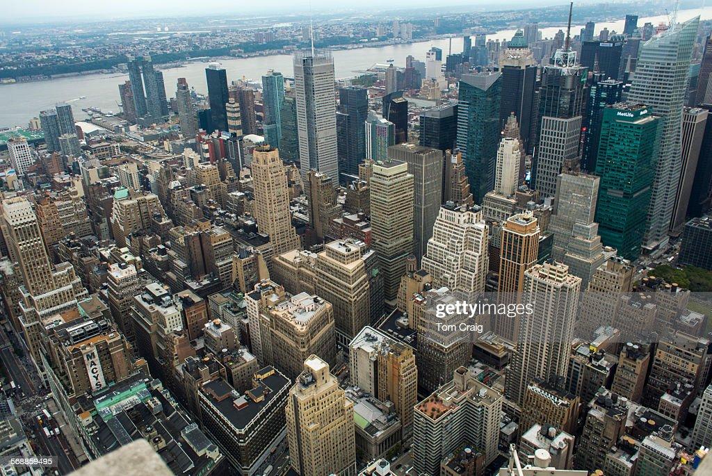 New York City aerial views : Stock Photo
