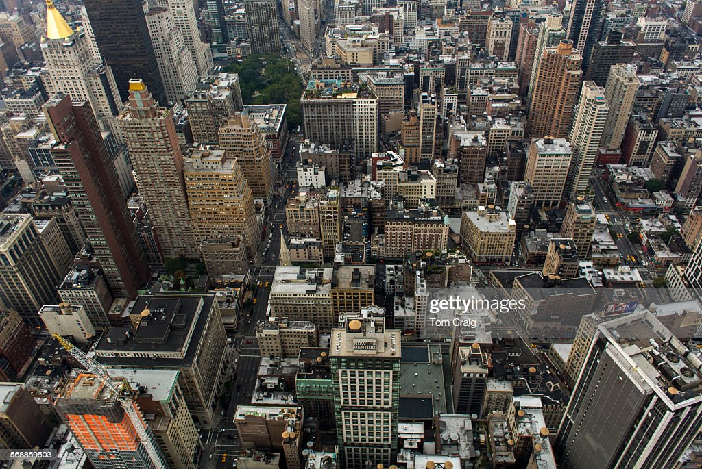 New York City aerial views : Stock Photo