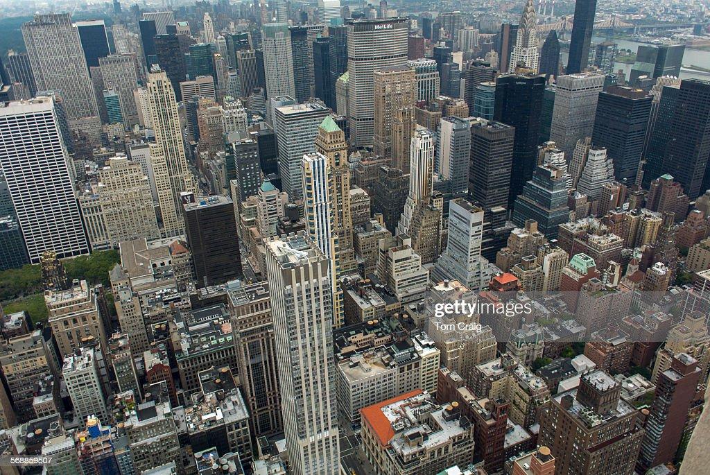 New York City aerial views : Foto de stock