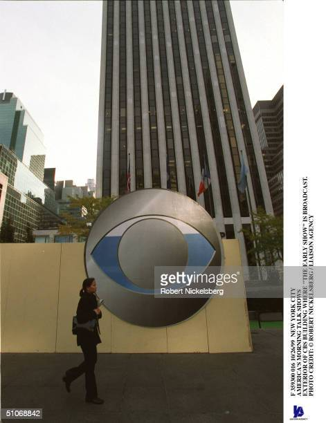 New York City America's Morning Talk Shows Exterior Of Cbs Building Where The Early Show Is Broadcast