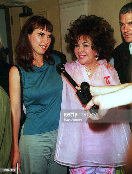 New York City AmFar hosts 'Honoring With Pride An Evening on Ellis Island' Awards Ceremony and Dinner Gala Elizabeth Taylor with her granddaughter...